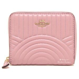 COACH Art Deco Wallet In Quilted Leather